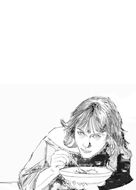 Chef/ digital art/ illustrazioni per A Cena con Babette/ 2014