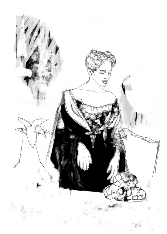 Vatel/ digital art/ illustrazioni per A Cena con Babette/ 2014