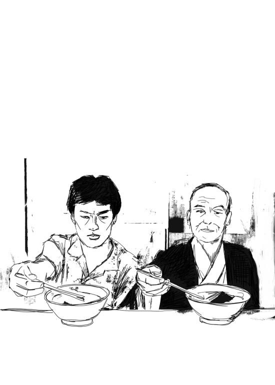 Tampopo/ digital art/ illustrazioni per A Cena con Babette/ 2014