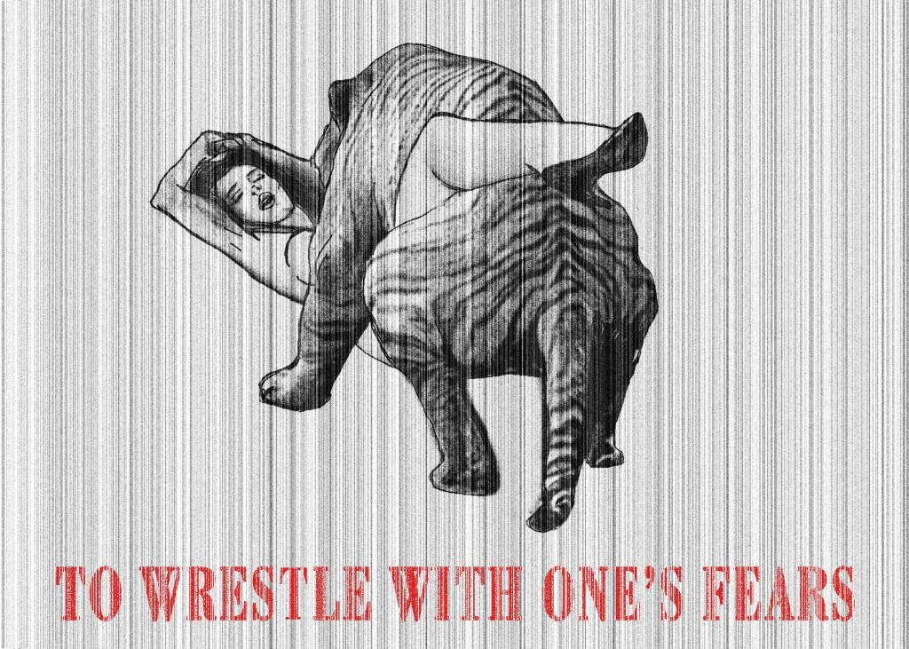 To wrestle with one's fears - Fare i conti con i propri timori Digital art, 2012